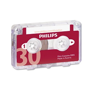 PHILIPS lot de 10  Mini cassette LFH0005, 30 minutes