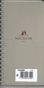 Mignon 16320M  Recharge spiralée agenda 2020 AS16R 154x78 mm 1 S / 2 Pages- Tranche Or