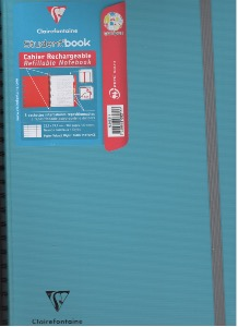 cahier student'book de clairefontaine 5 pochettes intercalaires repositionnables