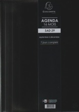 EXACOMPTA Agenda SAD 29 Winner Noir 2020-2021 21x29.7cm Semainier