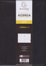 Agenda Exacompta journal 17  12X17 cm  2020