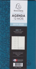 Agenda EXACOMPTA  SAS 17 winner semainier SEPT À SEPT 9 X 17,5 CM 17246E version 2019-2020