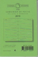 INT 9213S Recharge  agenda Moderne 2019 MINISEM 1 S / 2 Pages- Tranche Or