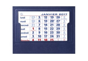 EXACOMPTA Calendrier Chevalets complets 105x135 mm Millésime 2017