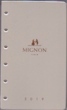 12430M Recharge  agenda MIGNON 2019  1 S / 2 Pages- Tranche Or