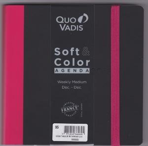 quo vadis soft color weekly agenda civil 16 x 16 cm rose ann e 2016 en stock. Black Bedroom Furniture Sets. Home Design Ideas