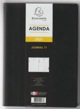 Agenda Exacompta journal 17  12X17 cm  2021