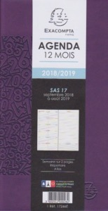 Agenda EXACOMPTA  SAS 17 winner semainier SEPT À SEPT 9 X 17,5 CM 17246E version 2018-2019