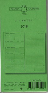 Agenda Moderne recharge 7 plus notes INT 3001 Version 2019