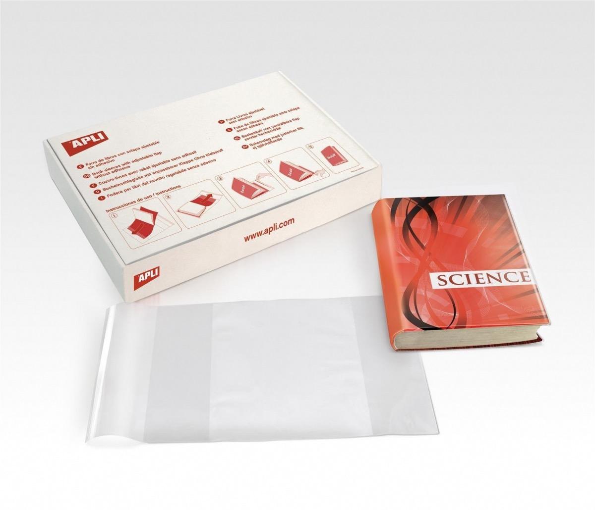 Fourniture scolaire couvre livre ajustable avec rabats 31 cm apli 12282 - Fourniture de bureau paris ...
