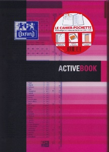 1 Oxford Office Active Book Etudiant Activebook  spirale 160 pages Couleurs Assorties