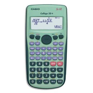 Destockage massif calculatrice Casio Collège  Fx-92  2D+